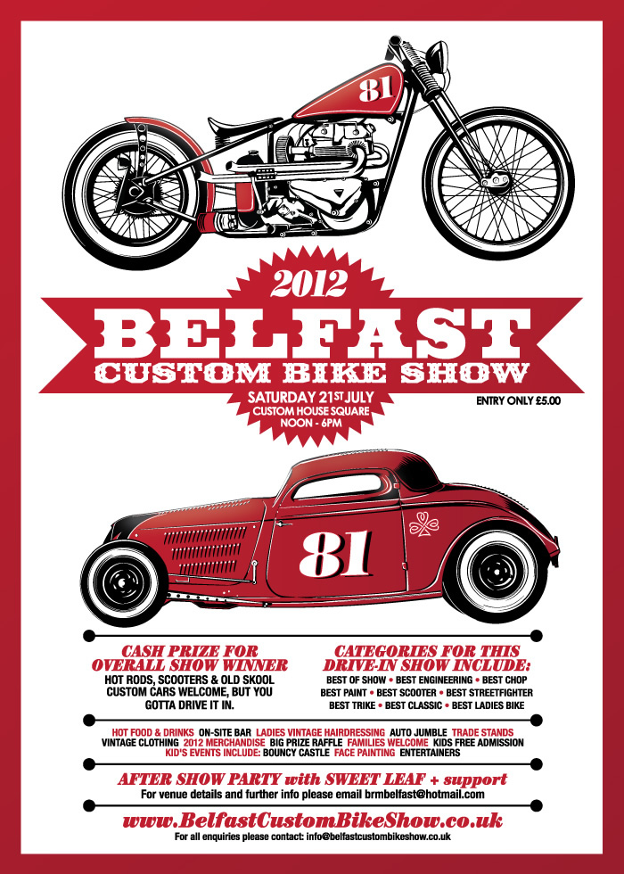 Belfast Custom Bike Show - Saturday 24th July 2011